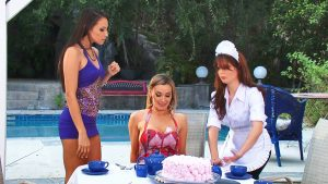 As a Maid you´re not allowed to make such a Mistake.. Otherwise you can find yourself in the middle of such a wild and horny Lesbians Big Tits Threesome